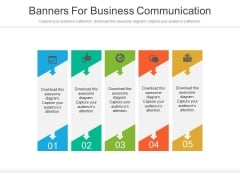Infographic Tags For Business Communication Powerpoint Slides