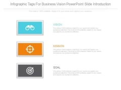 Infographic Tags For Business Vision Powerpoint Slide Introduction
