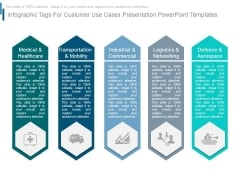 Infographic Tags For Customer Use Cases Presentation Powerpoint Templates