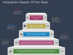 Infographics Diagram Of Five Steps Powerpoint Template