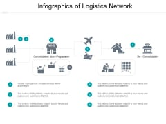 Infographics Of Logistics Network Ppt PowerPoint Presentation Show Diagrams