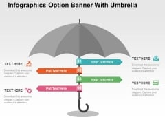 Infographics Option Banner With Umbrella Powerpoint Templates