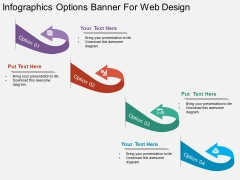 Infographics Options Banner For Web Design Powerpoint Template