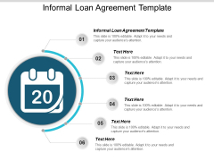 Informal Loan Agreement Template Ppt PowerPoint Presentation Summary Outline Cpb