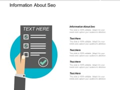 Information About Seo Ppt PowerPoint Presentation Outline Pictures Cpb
