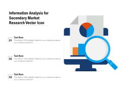 Information Analysis For Secondary Market Research Vector Icon Ppt PowerPoint Presentation Gallery Brochure PDF