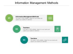Information Management Methods Ppt PowerPoint Presentation File Microsoft Cpb