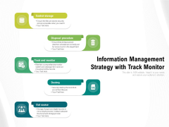 information management strategy with track monitor ppt powerpoint presentation infographic template maker