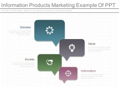 Information Products Marketing Example Of Ppt