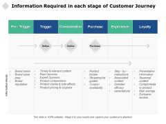 Information Required In Each Stage Of Customer Journey Ppt PowerPoint Presentation Portfolio Professional