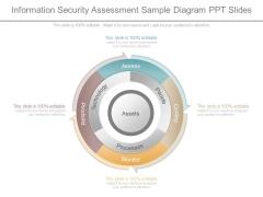 Information Security Assessment Sample Diagram Ppt Slides
