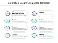 Information Security Awareness Campaign Ppt PowerPoint Presentation Slides Example Introduction Cpb