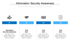 Information Security Awareness Ppt PowerPoint Presentation Infographic Template Graphic Tips Cpb