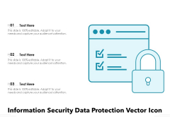 Information Security Data Protection Vector Icon Ppt PowerPoint Presentation Gallery Clipart PDF