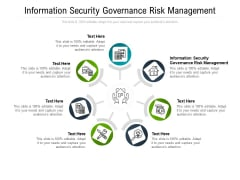 Information Security Governance Risk Management Ppt PowerPoint Presentation Gallery Graphics Pictures Cpb Pdf