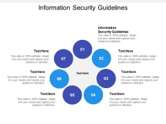 Information Security Guidelines Ppt Powerpoint Presentation Slides Icons Cpb