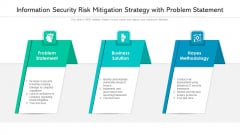 Information Security Risk Mitigation Strategy With Problem Statement Ppt PowerPoint Presentation File Background Image PDF