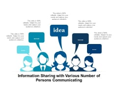 Information Sharing With Various Number Of Persons Communicating Ppt PowerPoint Presentation Show Gridlines PDF