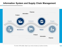 Information System And Supply Chain Management Manufacturer Ppt PowerPoint Presentation Gallery Ideas