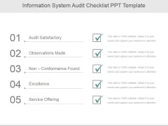 Information System Audit Checklist Ppt PowerPoint Presentation Images