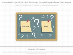 Information System Ethics And Technology Sample Diagram Powerpoint Shapes