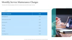 Information Technology Facilities Governance Monthly Service Maintenance Charges Themes PDF
