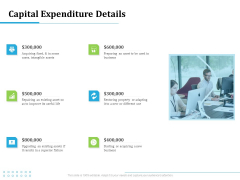 Information Technology Functions Management Capital Expenditure Details Ppt Summary Maker PDF