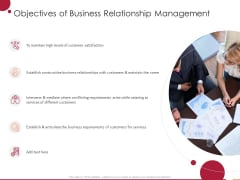 Information Technology Infrastructure Library Objectives Of Business Relationship Management Ppt Layouts Information PDF