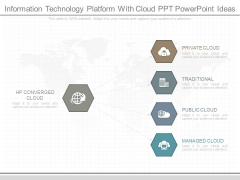 Information Technology Platform With Cloud Ppt Powerpoint Ideas