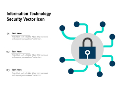 Information Technology Security Vector Icon Ppt PowerPoint Presentation Infographic Template Grid PDF