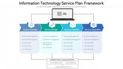 Information Technology Service Plan Framework Ppt Show Elements PDF