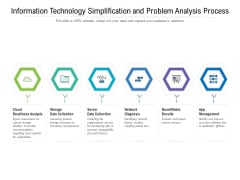 Information Technology Simplification And Problem Analysis Process Ppt PowerPoint Presentation File Pictures PDF