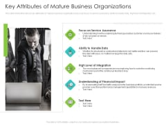 Infrastructure Administration Procedure Maturity Model Key Attributes Of Mature Business Organizations Structure PDF