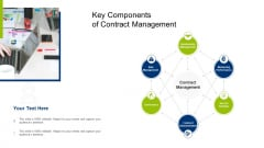 Infrastructure Building Administration Key Components Of Contract Management Sample PDF
