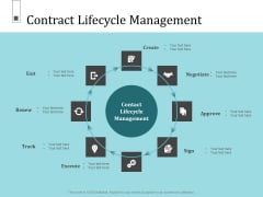 Infrastructure Project Management In Construction Contract Lifecycle Management Diagrams PDF