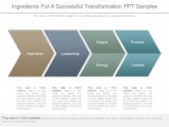 Ingredients For A Successful Transformation Ppt Samples