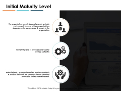 Initial Maturity Level Ppt PowerPoint Presentation Ideas Design Templates