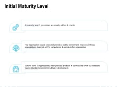 Initial Maturity Level Ppt PowerPoint Presentation Infographics Visual Aids