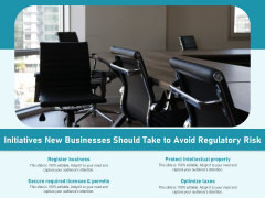 Initiatives New Businesses Should Take To Avoid Regulatory Risk Ppt PowerPoint Presentation Icon PDF