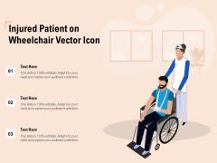 Injured Patient On Wheelchair Vector Icon Ppt PowerPoint Presentation Portfolio Guidelines PDF