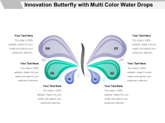 Innovation Butterfly With Multi Color Water Drops Ppt PowerPoint Presentation Inspiration Example PDF