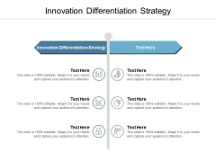 Innovation Differentiation Strategy Ppt PowerPoint Presentation Icon Infographic Template Cpb