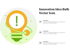 Innovation Idea Bulb Vector Icon Ppt PowerPoint Presentation Model Templates PDF