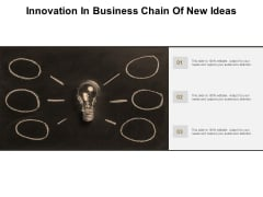 Innovation In Business Chain Of New Ideas Ppt PowerPoint Presentation Infographic Template Portrait