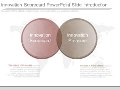 Innovation Scorecard Powerpoint Slide Introduction