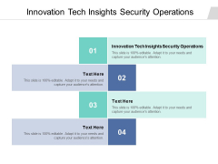 Innovation Tech Insights Security Operations Ppt PowerPoint Presentation Model Slideshow Cpb