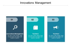 Innovations Management Ppt PowerPoint Presentation Inspiration Slideshow Cpb