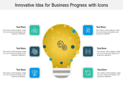 Innovative Idea For Business Progress With Icons Ppt PowerPoint Presentation File Background PDF