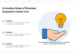 Innovative Ideas Of Business Expansion Vector Icon Ppt PowerPoint Presentation Summary Inspiration PDF