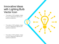Innovative Ideas With Lighting Bulb Vector Icon Ppt PowerPoint Presentation Infographics Templates PDF